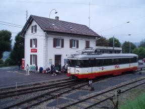 Train en gare des Brenets